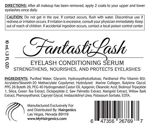 Hairgenics Pronexa Fantasti Lash â?? Eyelash Conditioner & Brow Conditioning Serum With Castor Oil St