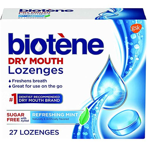 Biotene Dry Mouth Lozenges, Refreshing Mint, 27 Count (Pack of 2)