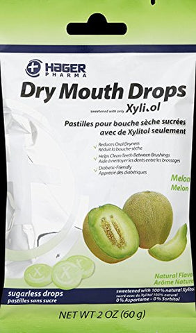 Miradent Dry Mouth Drops Melon 2 Oz