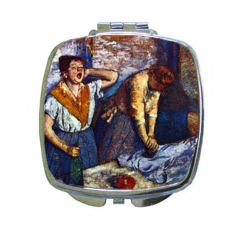 Two Cleaning Women By Edgar Degas Compact Mirror