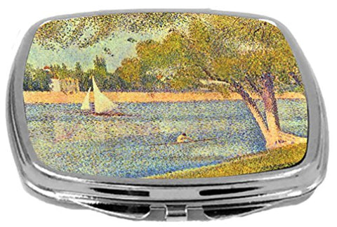 Rikki Knight Georges-Pierre Seurat Art Design Compact Mirror, The Seine at The Grande Janne, 3 Ounce