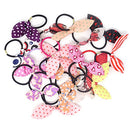 Image of Honbay 20PCS Random Colors and Patterns Cute Rabbit Ear Hair Tie Elastic Ponytail Holder