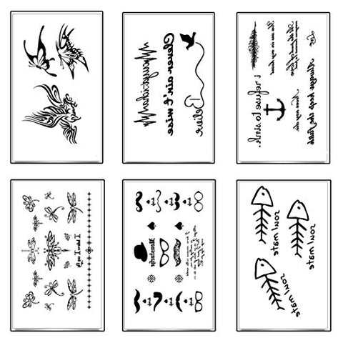 Temporary Tattoos,18 Sheets Tattoos,More Than 100 Design Fake Waterproof Tattoo Stickers-For Adults or Kids