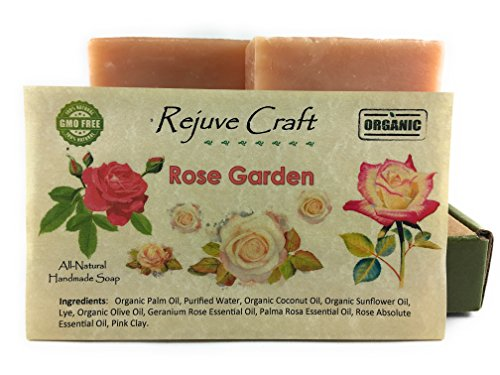 Rose Soap. All Natural and Organic. Handmade in the USA. Relaxing, Refreshing, Alleviates Inflammation