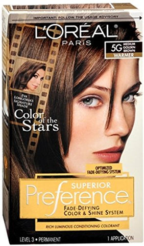 L'Oreal Superior Preference - 5G Medium Golden Brown (Warmer) 1 Each (Pack of 3)