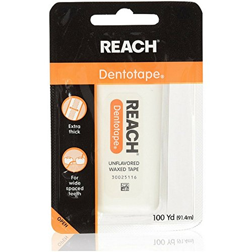 Reach Dentotape Waxed Dental Floss With Extra Wide Cleaning Surface For Large Spaces Between Teeth,