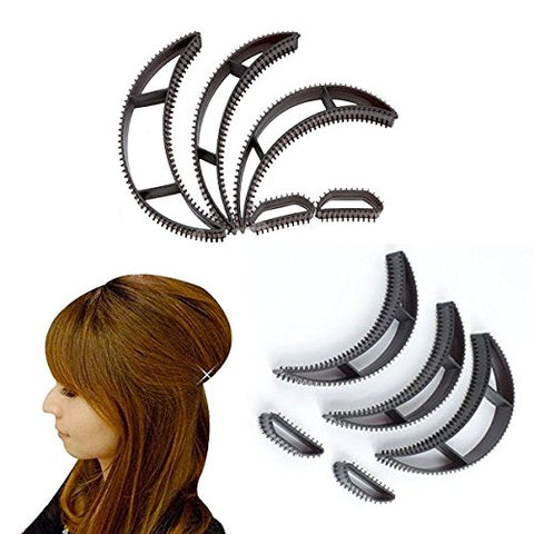 Frcolor Hair Bumpit Volume Beehive Hair Bump Hair Pad Haight Tools, Pack of 5 (Black)