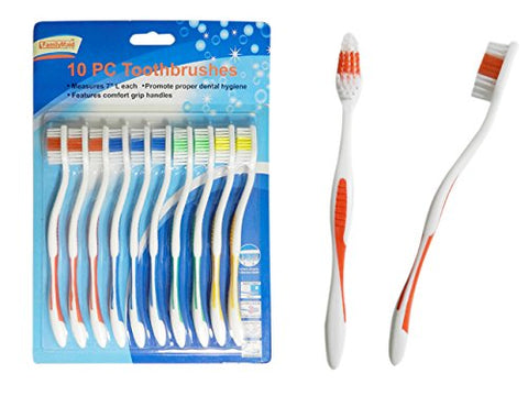 Toothbrushes 10 pcs 7 inches L, Case of 144