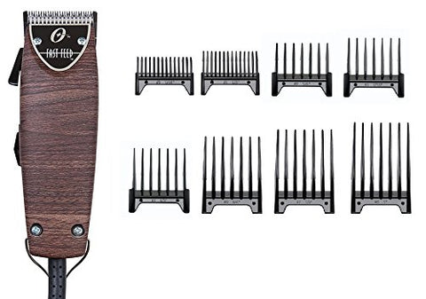 Oster Fast Feed Limited Edition Wooden Wood Color Hair Adjustable Pro Clipper + 8pc Combs