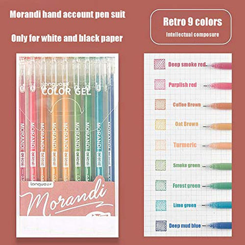 US Stock Journal Planner Pens,9PCS / Set Colored Fine Point Markers Drawing Pens Porous Fineliner Pen 10ml for Writing Note Taking Calendar Agenda Coloring - Art School Office Supplies (D)