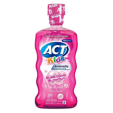 ACT Kids, Anticavity Fluoride Rinse, Bubblegum Blowout - 16.9 oz
