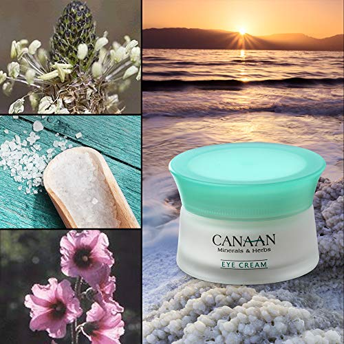CANAAN Minerals & Herbs Revitalizing Dead Sea Eye Cream - Anti-Aging Eye Cream Reduces Puffiness, 30 ml / 1.02 fl. oz