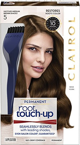 Clairol Root Touch Up Permanent Hair Color Creme, 5 Medium Brown, 1 Count