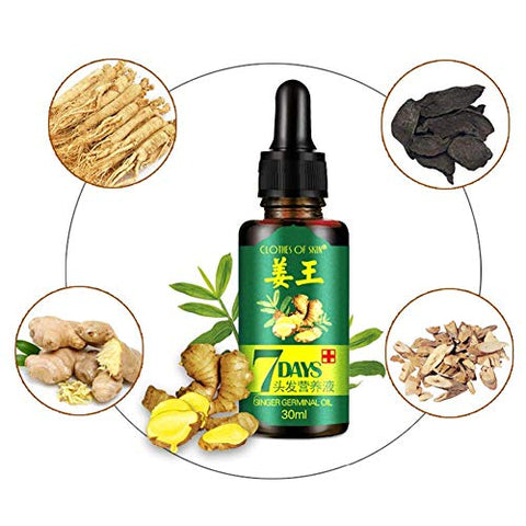 3 PACK Ginger Germinal Oil,Hair Growth Serum,2021 Hair Growth Ginger Essential Oil Hair Growth Oil Hair Loss Treatment