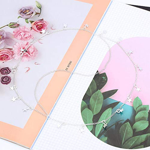 Victray Boho Star Head Chain Summer Beach Headpieces Party Hair Accessories Fashion Jewelry for Women and Girls