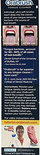 Orabrush Tongue Cleaner - 4 Brushes