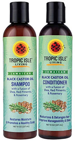 Tropic Isle Living Jamaican Black Castor Oil Shampoo & Conditioner