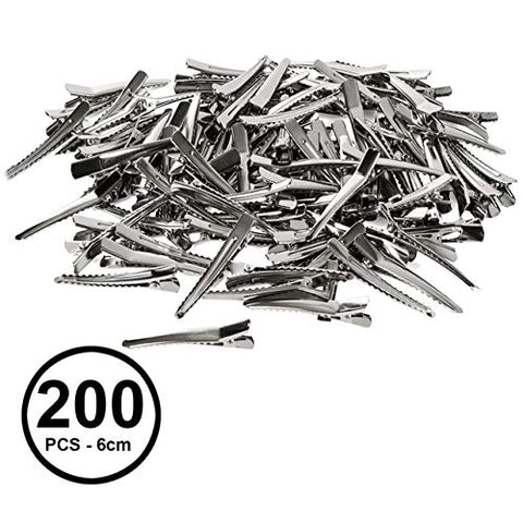 CoverYourHair Alligator Hair Clips - 200 Pc Set - Craft Clips - Hair Styling Clips - Prong Hair Clips - Clips for Bows - Hairdressing Clips