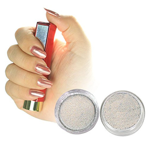 PrettyDiva Silver Chrome Pure Powder Mirror Effect Nail Powder Manicure Pigments (1g)