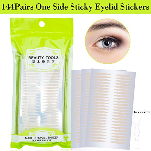 Breathable Single Side Sticky Fiber Double Eyelid Tape Paste Stickers Medical Grade Latex Free Instant Eyelid Lift Tapes Perfect for Hooded, Droopy or Mono-eyelids (Medium)