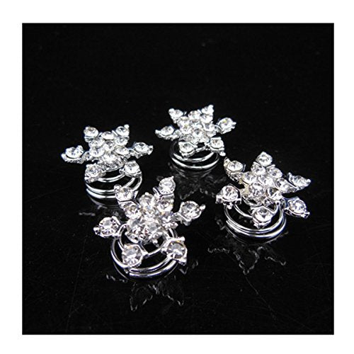 Chicone Snowflask Hair Coils Swirls Twists Spirals Springs Pins for Bridal Wedding Prom Set of 10