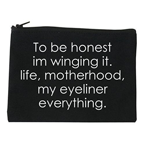 Im Winging It Eyeliner Everything Funny Cosmetic Makeup Bag Black Small