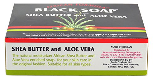African Formula Black Soap 3.5 Ounce Shea Butter & Aloe Vera (103ml) (2 Pack)