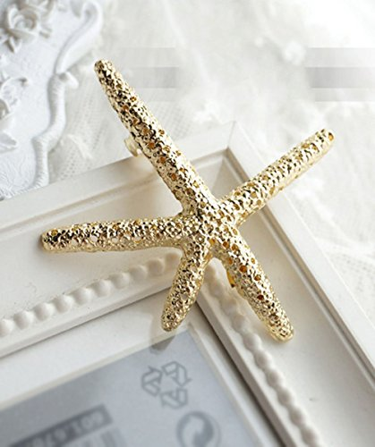 yueton Pack of 4 Nice Hollow Starfish Beach Sea Star Hairpin Hair Clips Accessories Barrettes Bobby Pin Wedding Bridesmaids Bridal Headwear Headdress