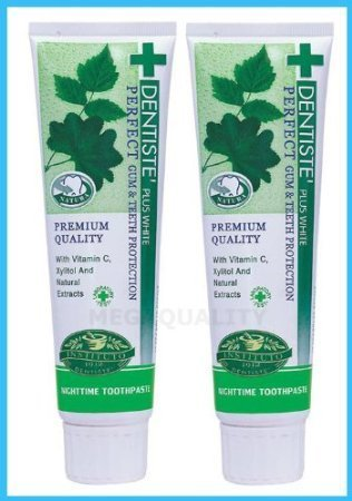 Dentiste 2x160 G. New Plus White Vitamin C & Xyitol Gum Toothpaste Made in Thailand