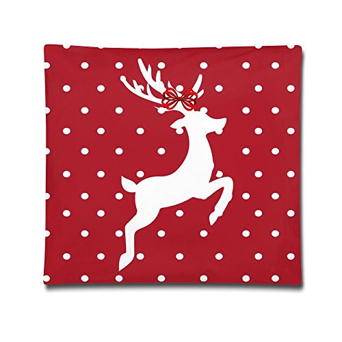 USYPILLOW Christmas Deer Decorative Square Accent Simple Pillow Case, 18 X 18 Inches