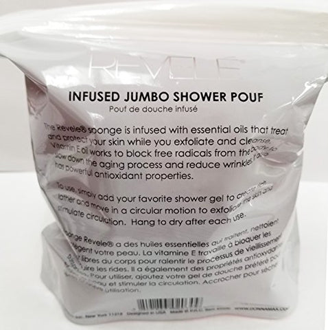 Revele Jumbo Shower Pouf (Infused with Collagen)