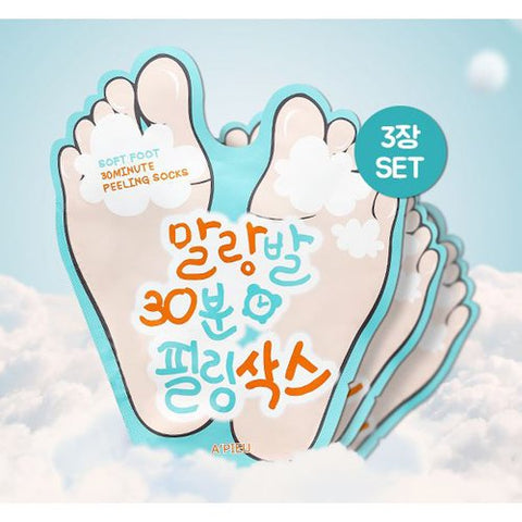[A'PIEU] Soft Foot Peeling Socks 3ea