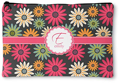 "Daisies Zipper Pouch - Large - 12.5""x8.5"" (Personalized)"