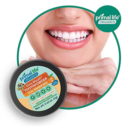 Primal Life Organics | Dirty Mouth Organic Tooth Powder | Gently Polishes, Whitens, Re Mineralizes,