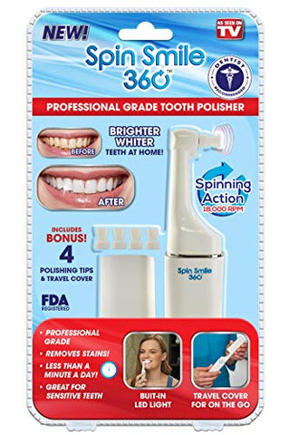 Spin Smile 360 - Professional Grade Tooth Polisher - Seen on TV