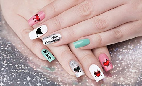 Heart Valentines Love Collection (Devils Heart Nail Art)