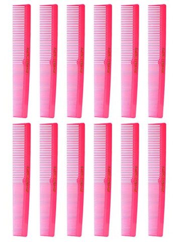 Allegro Combs 420 Hair combs Barber Comb Comb Set Hair Cutting Combs Pocket Comb Combs for Hair Stylist Styling Comb Pink Combs 12 pk.