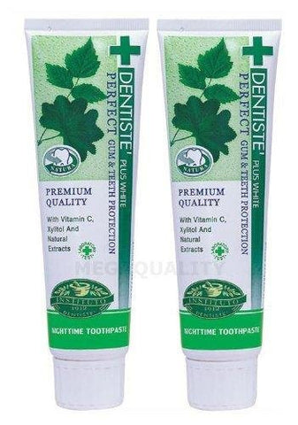 2 X 100g. Dentiste Plus White Vitamin C & Xyitol Gum Toothpaste Made In Thailand