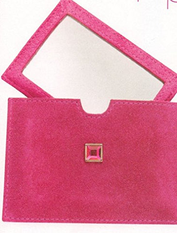 Avon Pink Suede Purse Travel Mirror