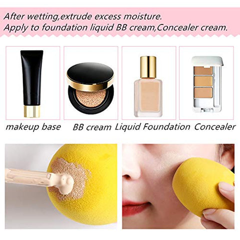 3/5/pcs/pack Facial Makeup Sponge Cosmetic Puff Flawless Powder Puff Makeup Tools for face mix color Blender Foundation Puff (5Pcs)