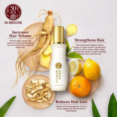 #MG 50 MEGUMI Anti-Hair Loss Treatment Essence 160ml -With needed nutrients, improve blood circulation, strengthen hair roots, and improve thinning hair for stronger locks full of volume