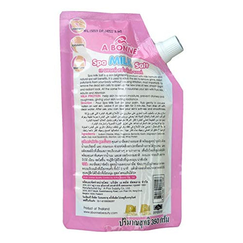 A Bonne Bonne' Spa Milk Salt Whitening Smooth Baby Skin Exfoliating Smooth - 350g/12.4oz