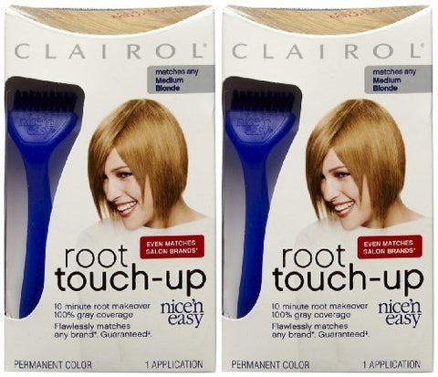 Clairol Nice n Easy Touch, Up, 008, Medium Blonde, 2 pk