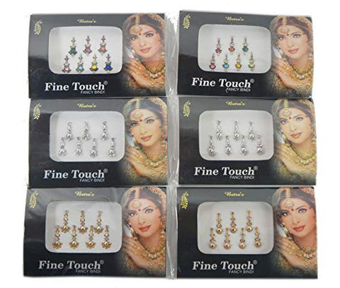 IFH Indian Bindi Temporary Tattoo Multicolored Tika Forehead stickers Lot of 20 Packs