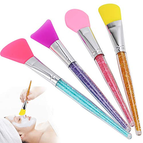 4pcs Facial Mud Mixing Silicone Makeup Brush, Hairless Body Lotion Body Butter Applicator Tools for Body Lotion BB Cream
