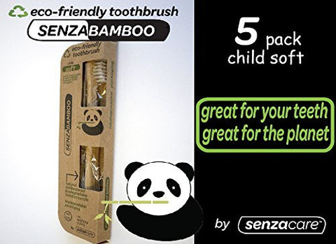 Child Size Senza Bamboo Eco Friendly Toothbrush (Soft Bristles) (5)