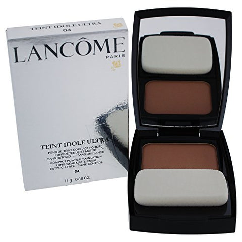 Lancome Teint Idole Ultra Compact Powder Foundation, Long Wear Matte Finish, No. 04 Beige Nature, 0.38 Ounce