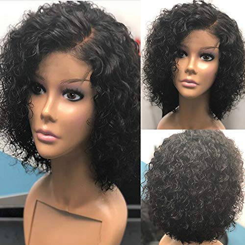 Short Curly Human Hair Lace Front Wigs With Baby Hair Brazilian Virgin Ninthavenue Europe