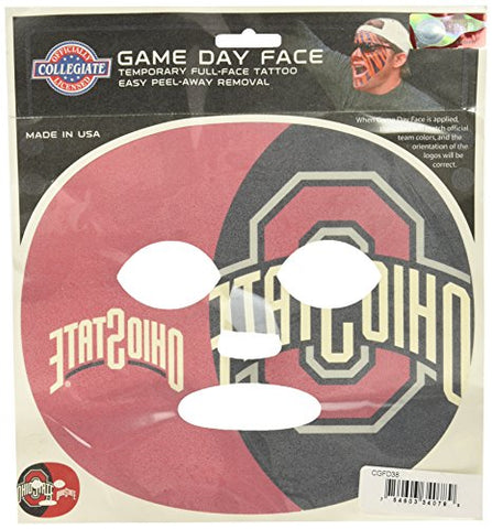 Siskiyou NCAA Michigan Wolverines Game Day Face Temporary Tattoo, Large