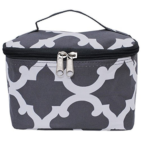 Gray Geometric Clover Print NGIL Cosmetic Case